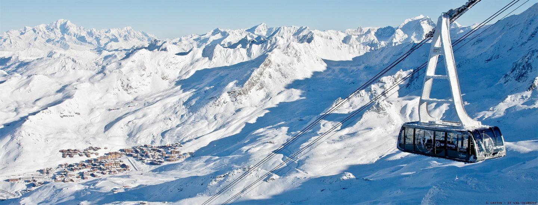 Téléphérique ralliant la station de ski Val Thorens