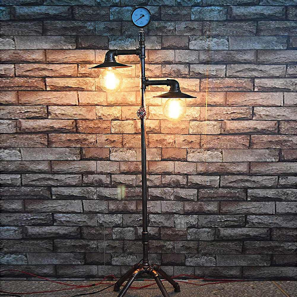 Un lampadaire de style vintage