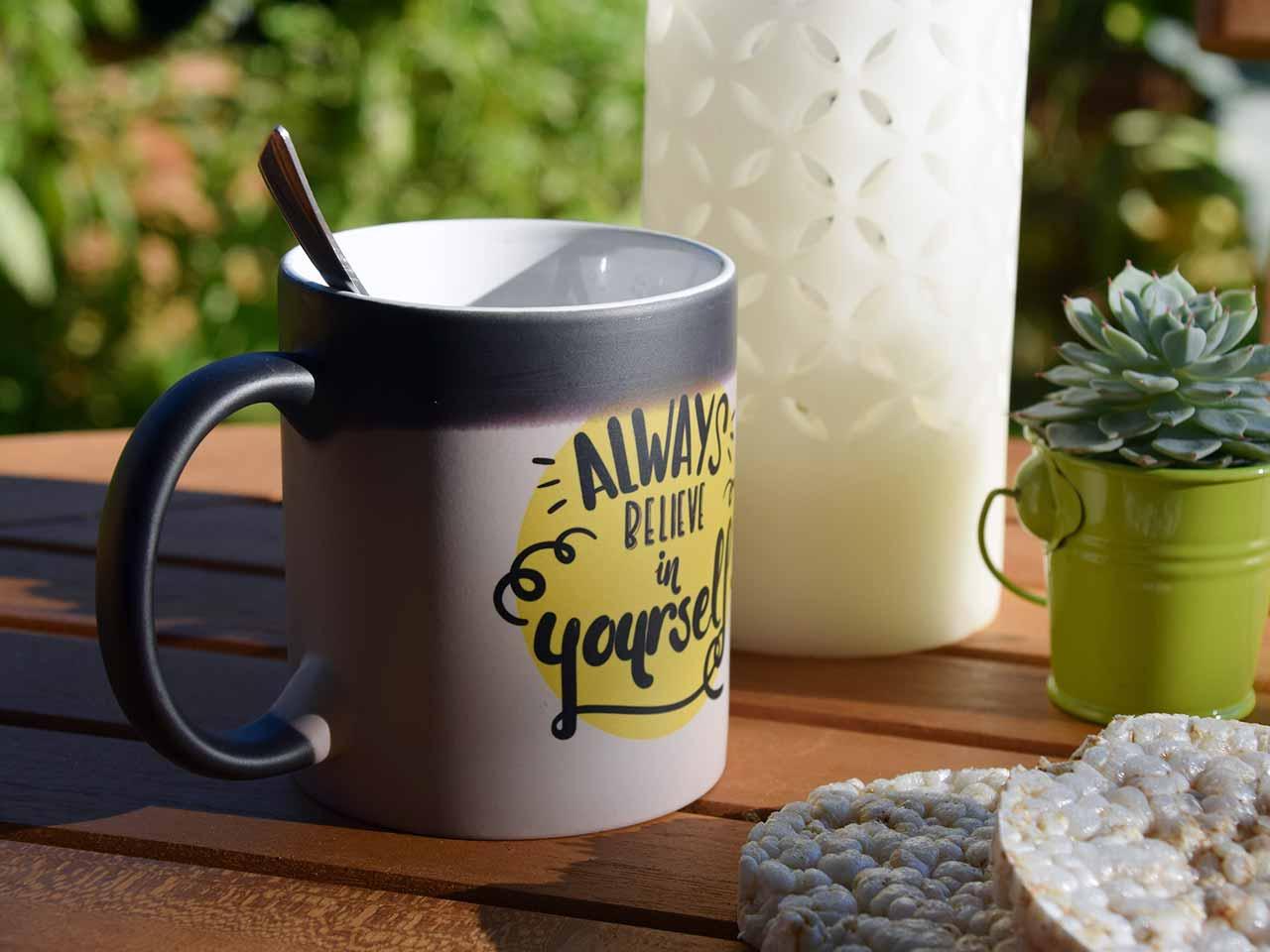 Un mug personnalisé en cadeau