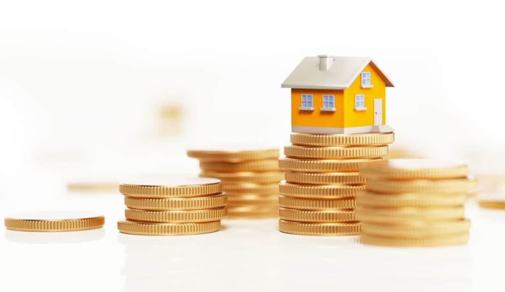 Maison sur pièces d'argent