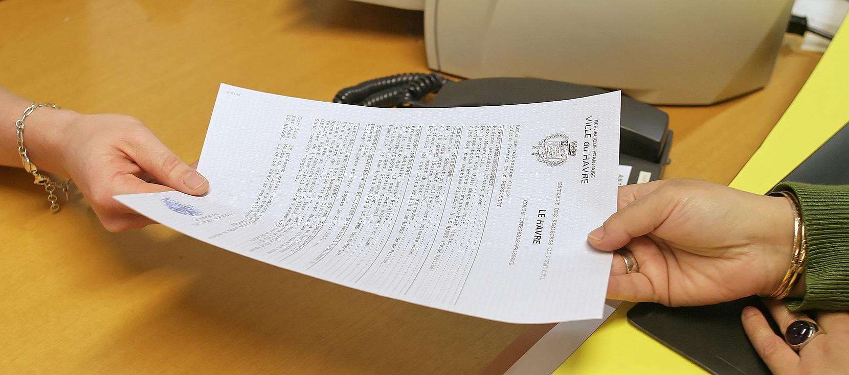 Formalités administratives au guichet unique