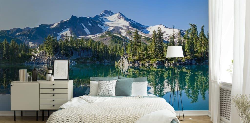 papier peint panoramique lac