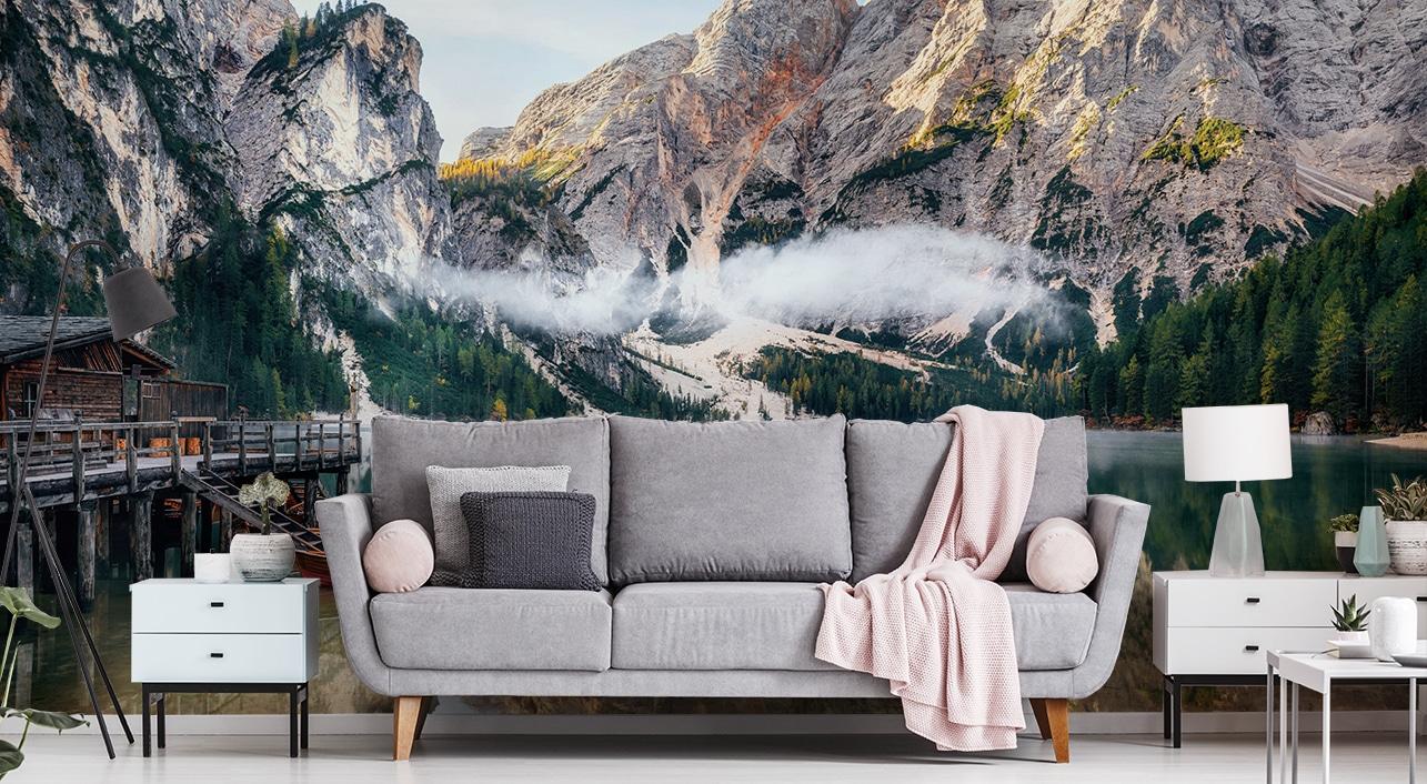 papier peint panoramique montagnes