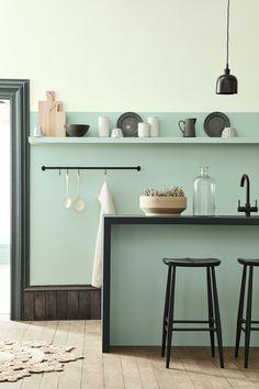 peinture cuisine vert