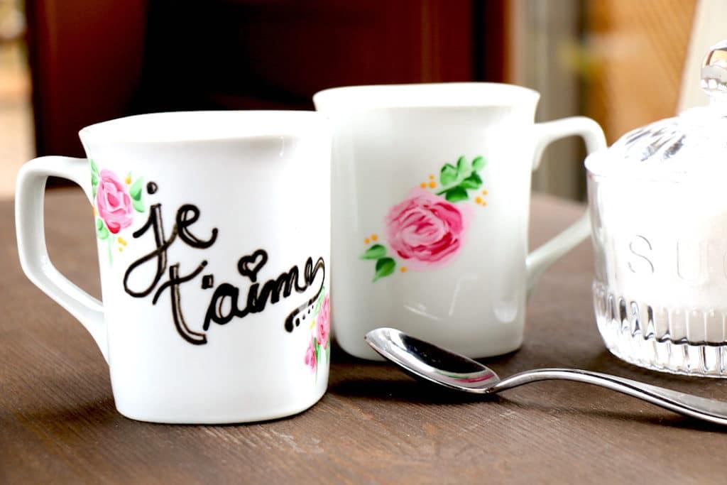peinture sur un mug