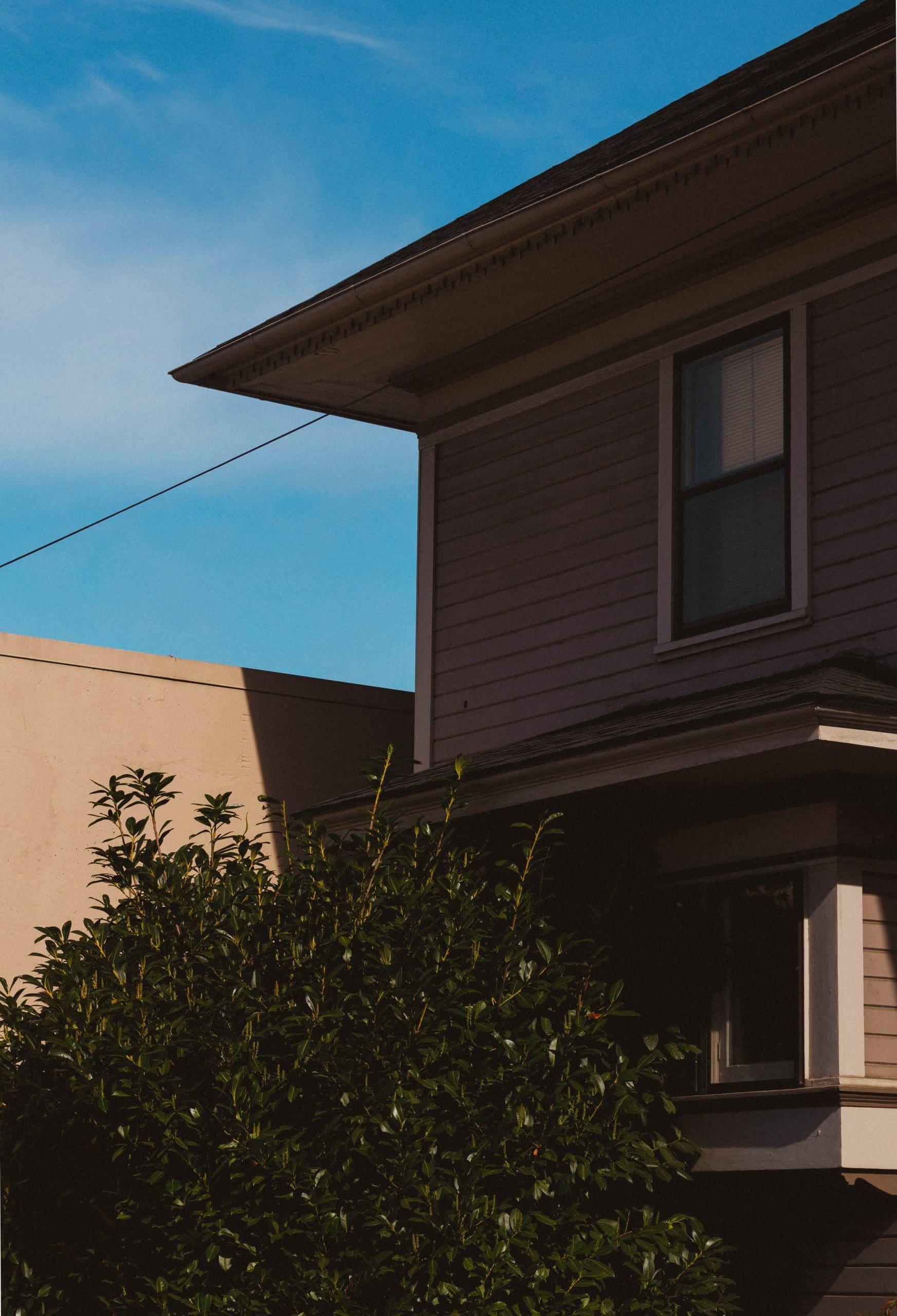 Maison avec un bardage bois